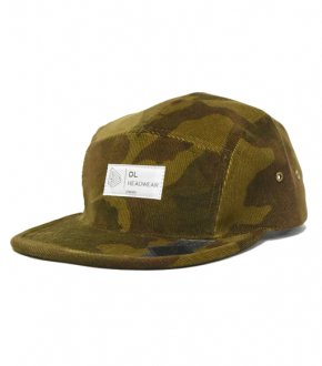 "【DL Headwear】Omega 5Panel Camp Cap  ""woodland camo corduroy ""