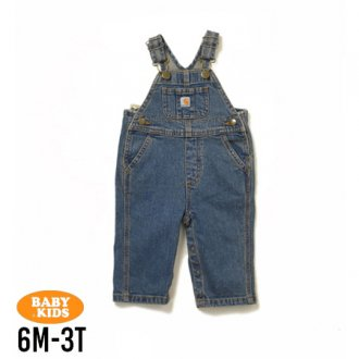 <img class='new_mark_img1' src='https://img.shop-pro.jp/img/new/icons56.gif' style='border:none;display:inline;margin:0px;padding:0px;width:auto;' />【Carhartt】Baby Denim Bib Overall 6M-3T(6ヶ月〜3歳)