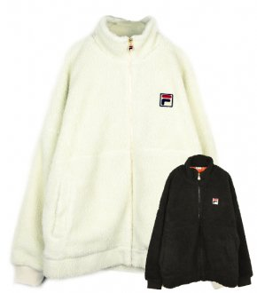 【FILA HERITAGE】Sheep Boa Box Logo Full Zip Jacket