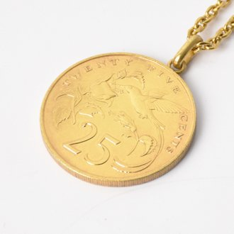 【Seen?】Jamaica 25&#162;Gold Plate Necklace