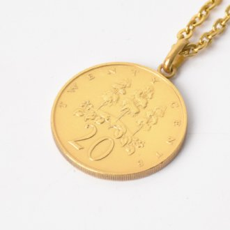 【PAYBACK】Jamaica 20¢ Gold Plate Necklace