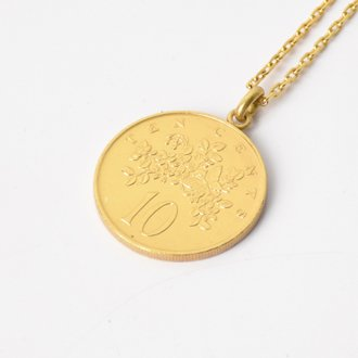 【Seen?】Jamaica 10&#162; Gold Plate Necklace