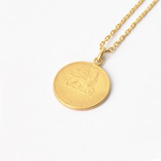 【Seen?】Ethiopia 5&#162; Gold Plate Necklace