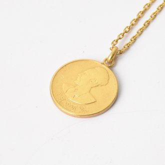 【Seen?】Ethiopia 10&#162; Gold Plate Necklace