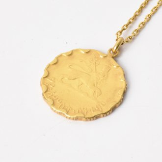 【Seen?】Ethiopia 25&#162; Gold Plate Necklace