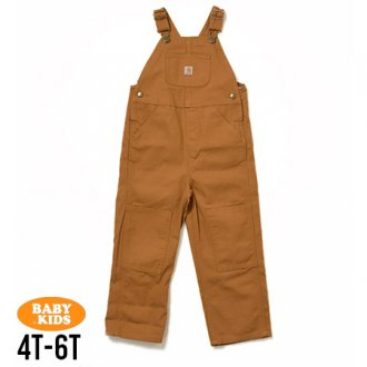 【CARHARTT】Kids Washed Duck Bib Overall 4T-6(4歳〜6歳)
