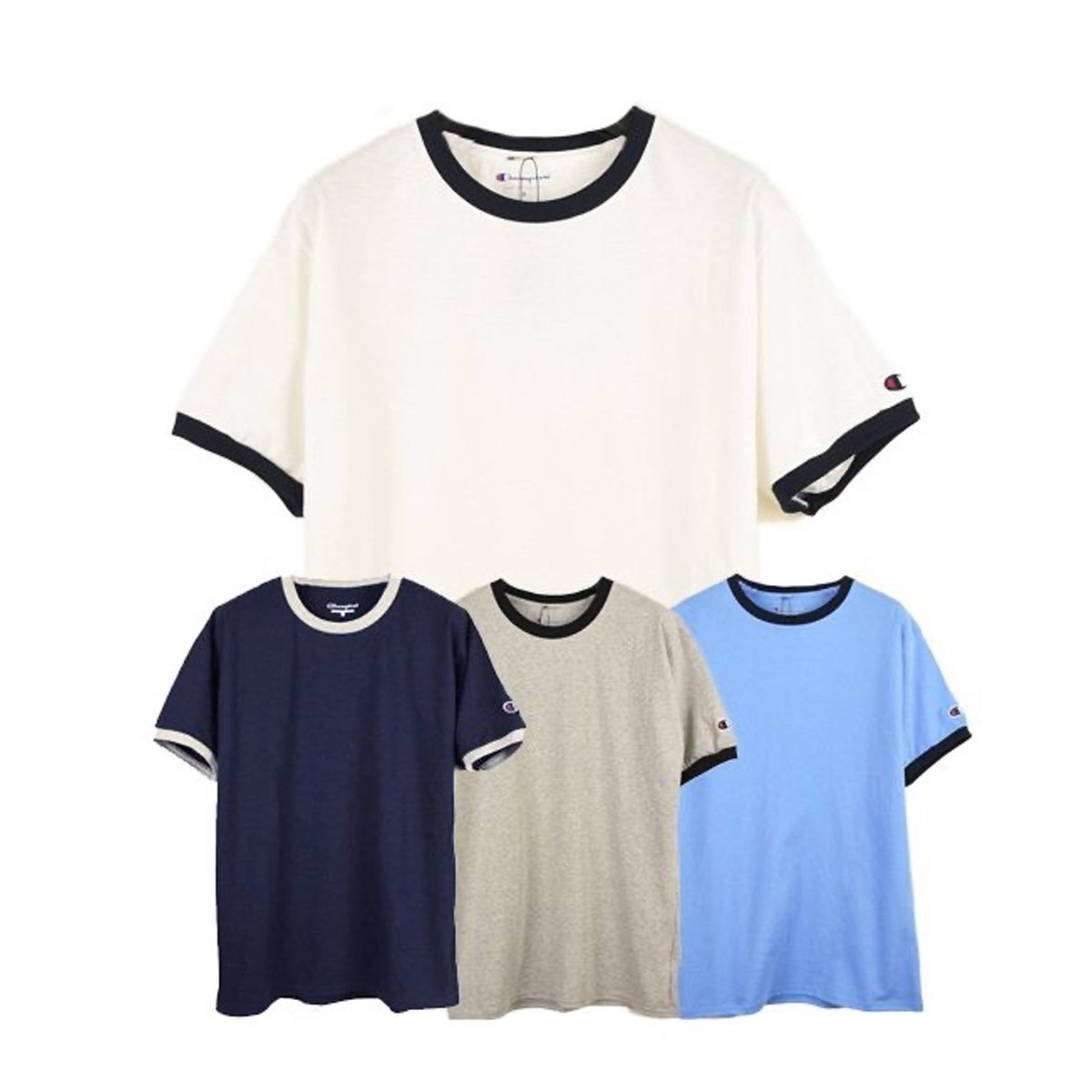 【Champion】5.2 OZ Trim S/S Tee
