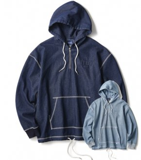 【INTERBREED】Stitched Denim Hoodie                           </a>             <span class=