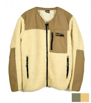 【FIRSTDOWN】No Collar Boa Blouson (2Color)