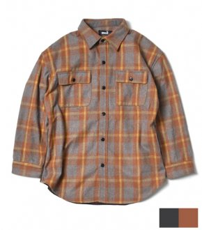 【Seen?】Wide  Flannel Corduroy Cut Shirt
