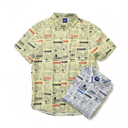【QUARTER SNACKS】Vendor S/S Botton Up Shirt (2Color)