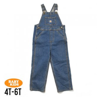 <img class='new_mark_img1' src='https://img.shop-pro.jp/img/new/icons56.gif' style='border:none;display:inline;margin:0px;padding:0px;width:auto;' />【Carhartt】Kids Denim Bib Overall 4T-6(4歳〜6歳)