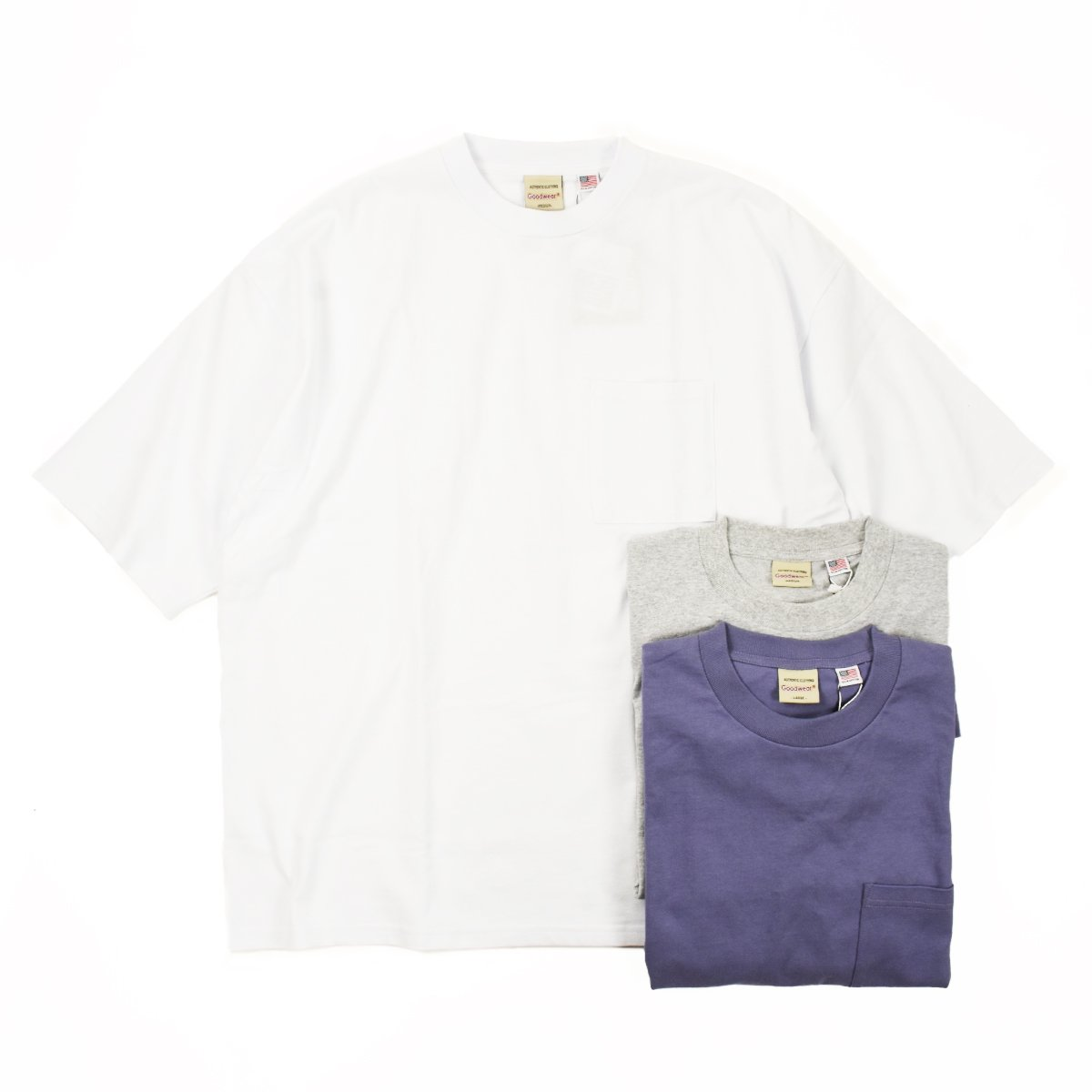 【Good Wear】Super Wide Pocket Tee (9Color)