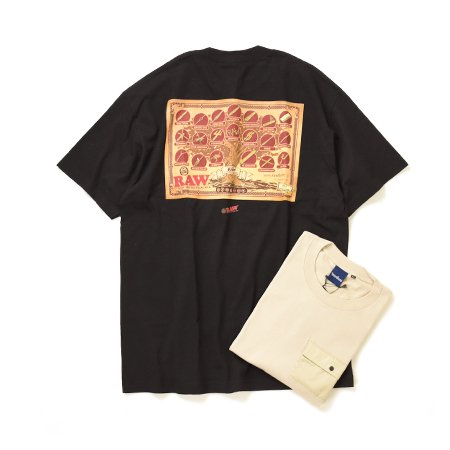 """【RAW × INTERBREED】""""Tree of RAW SS Tee""""  (2Color)                           </a>             <span class="""