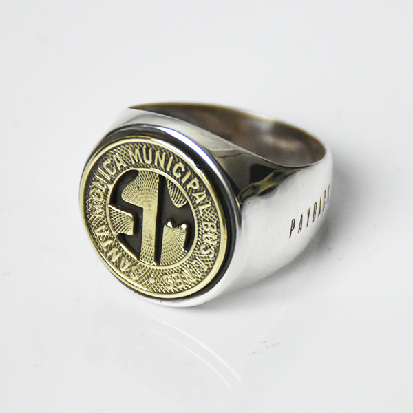 <img class='new_mark_img1' src='https://img.shop-pro.jp/img/new/icons8.gif' style='border:none;display:inline;margin:0px;padding:0px;width:auto;' />【PAYBACK】Santa Monica Token Silver Ring