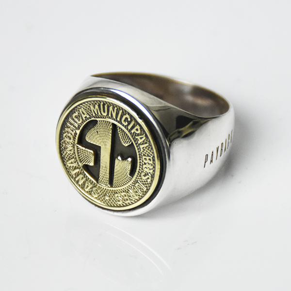 【PAYBACK】Santa Monica Token Silver Ring (1958)                           </a>             <span class=