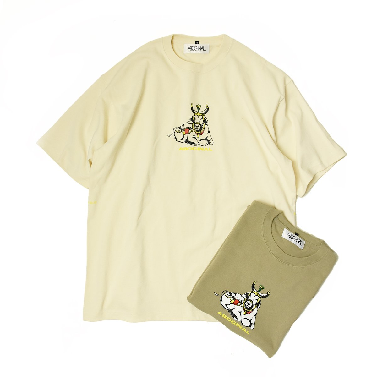 【ABOGINAL】Cow st, S/S Tee (2Color)                           </a>             <span class=