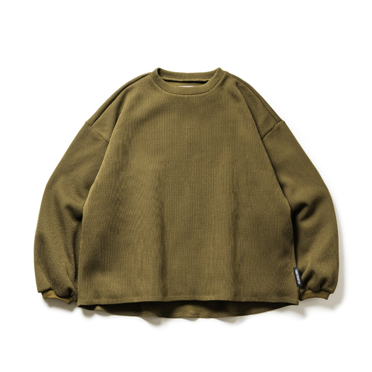 <img class='new_mark_img1' src='https://img.shop-pro.jp/img/new/icons8.gif' style='border:none;display:inline;margin:0px;padding:0px;width:auto;' />【TBPR】Waffle Crew Knit Khaki)                           </a>             <span class=