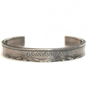 【VINTAGE JAMAICA COIN】10$COIN SILVER BANGLE(10$銀貨)