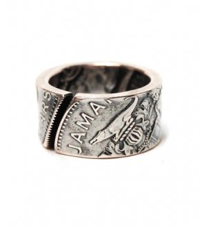 【VINTAGE JAMAICA COIN】5$COIN SILVER RING(5$銀貨)