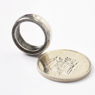【VINTAGE JAMAICA COIN】25CENT COIN RING