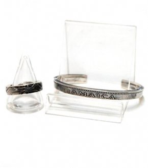 【VINTAGE JAMAICA COIN】10$COIN SILVER BANGLE&RING SET(10$銀貨)