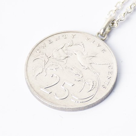 【VINTAGE JAMAICA COIN】25CENT COIN TOP