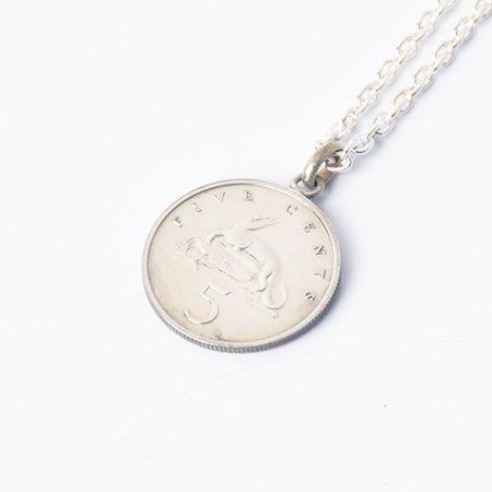 【VINTAGE JAMAICA COIN】5 CENT COIN TOP