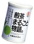 有機煎茶粉末煎茶まるごと物語40g紙缶入