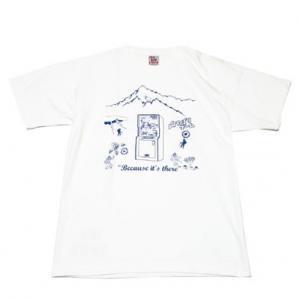 山のぼりゲーム Because it's there Tシャツ(オフホワイト)
