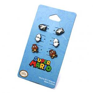 <img class='new_mark_img1' src='https://img.shop-pro.jp/img/new/icons48.gif' style='border:none;display:inline;margin:0px;padding:0px;width:auto;' />Nintendo スーパーマリオ miniピアスセット(キラー&ゲッソー&クリボー)