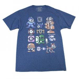 ロックマン 8bitキャラクター Tシャツ