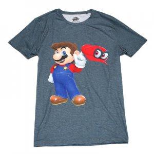 スーパーマリオ オデッセイ マリオ&キャッピーTシャツ