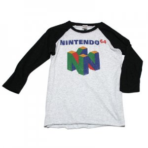 <img class='new_mark_img1' src='https://img.shop-pro.jp/img/new/icons48.gif' style='border:none;display:inline;margin:0px;padding:0px;width:auto;' />NINTENDO64 ベースボール ロゴ Tシャツ