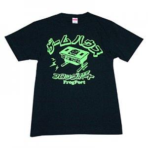 かせきさいだぁ テーブル筐体 Tシャツ(ネイビー/蛍光グリーン)