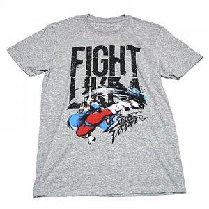 ストリートファイター 春麗 FIGHT LIKE A Tシャツ
