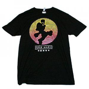 スーパーマリオ ジャンピングマリオ シルエット Tシャツ