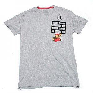 <img class='new_mark_img1' src='https://img.shop-pro.jp/img/new/icons5.gif' style='border:none;display:inline;margin:0px;padding:0px;width:auto;' />Nintendo スーパーマリオ 8bitジャンプ ポケットTシャツ