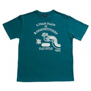 マリオブラザーズ PLAY STYLE2 Tシャツ BlueGreen