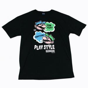 マリオブラザーズ PLAY STYLE3 Tシャツ Black