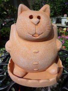 かわいい~ネコちゃんのテラコッタ