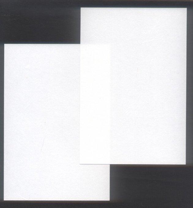 楮(こうぞ)紙 はがき 白  郵便番号枠なし 両面無地 8枚入