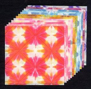 板締千代紙 12枚セット 11cm角