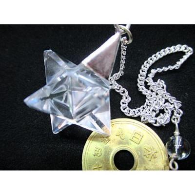 ヒマラヤ水晶ペンデュラムマルカバスター4452