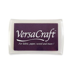 [30%OFF]布用インクパッドVersa Craft:peony purple:紫