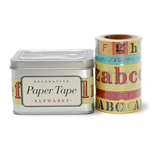 [CAVALLINI]缶入りマスキングテープセット/アルファベット