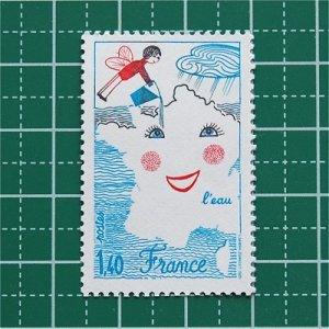 フランス切手/児童画