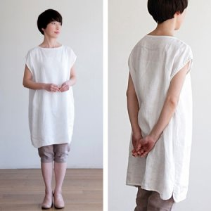 [fog linen work] CONNIEサックワンピース/ホワイト