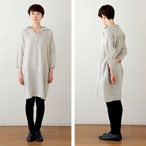[fog linen work] SEAONA ロングシャツ/ナクレ
