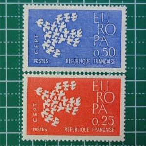 フランス切手/ヨーロッパ'61(2枚組)